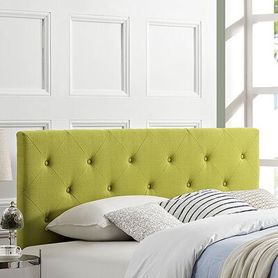 Terisa Upholstered Panel Headboard Size: Full, Upholstery: Wheatgrass