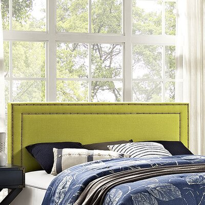 Jessamine Upholstered Panel Headboard Upholstery: Wheatgrass, Size: King
