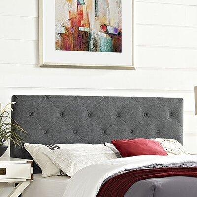 Terisa Upholstered Panel Headboard Size: Full, Upholstery: Gray