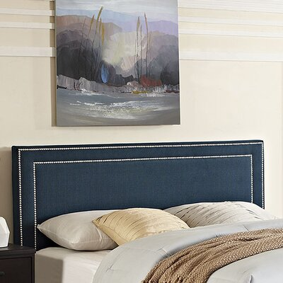 Eyre Upholstered Wood Panel Headboard Upholstery: Azure, Size: King