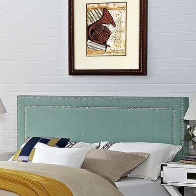 Eyre Upholstered Wood Panel Headboard Upholstery: Laguna, Size: King