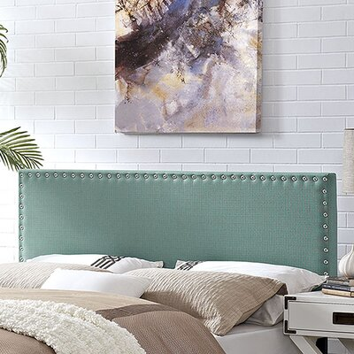 Preiss Solid Wood Upholstered Panel Headboard Size: Full, Upholstery: Laguna