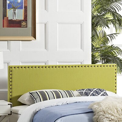 Preiss Solid Wood Upholstered Panel Headboard Size: Full, Upholstery: Wheatgrass