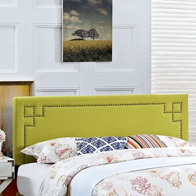 Josie Upholstered Panel Headboard Size: Full, Upholstery: Wheatgrass
