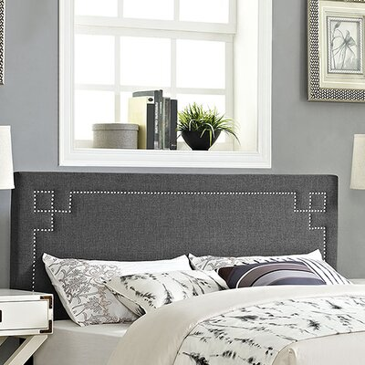 Josie Upholstered Panel Headboard Upholstery: Gray, Size: King