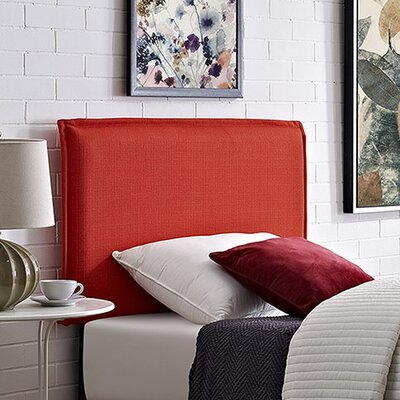 Camille Upholstered Panel Headboard Size: Twin, Upholstery: Atomic Red