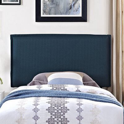 Camille Upholstered Panel Headboard Upholstery: Azure, Size: Twin