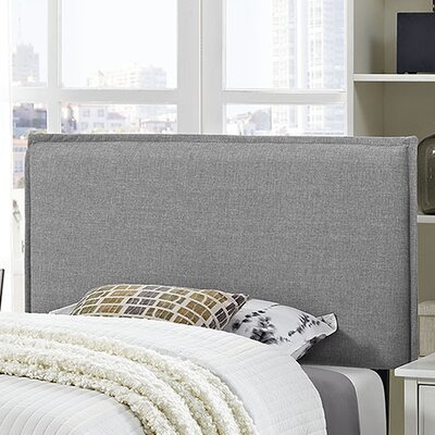 Camille Upholstered Panel Headboard Size: Twin, Upholstery: Light Gray