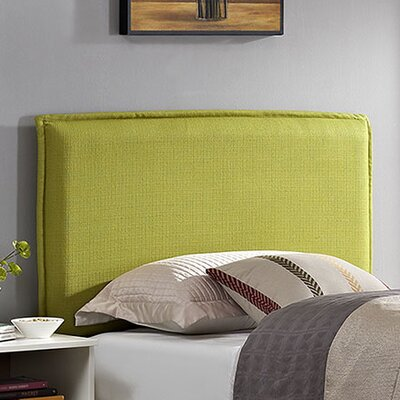Camille Upholstered Panel Headboard Upholstery: Wheatgrass, Size: Twin