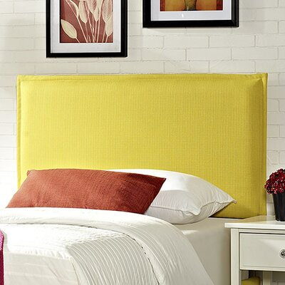 Camille Upholstered Panel Headboard Size: Full, Upholstery: Wheatgrass