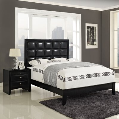 Lola Panel 2 Piece Bedroom Set Size: Queen