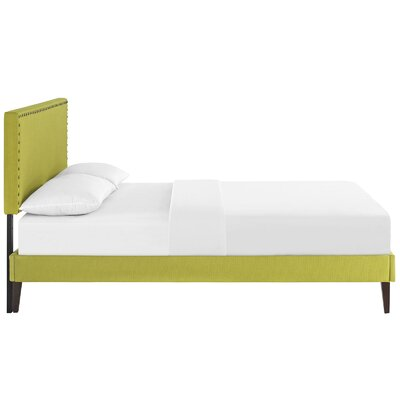 Preiss Upholstered Platform Bed Size: Full, Color: Wheatgrass