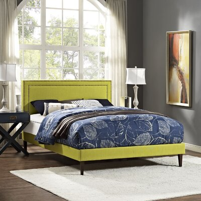 Eyre Upholstered Squared Tapered Legs Platform Bed Size: Full, Color: Wheatgrass