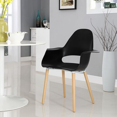 Soar Solid Wood Dining Chair Finish: Black