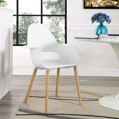 Soar Solid Wood Dining Chair Color: White