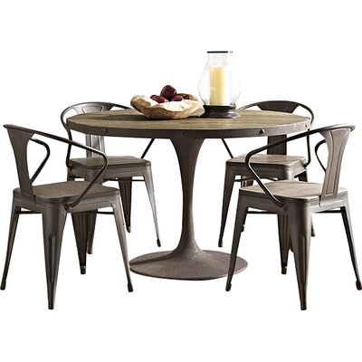 Omarion Wood Top Dining Table