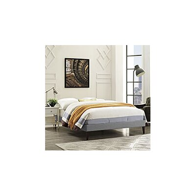 Sharon Platform Bed Color: Light Gray, Size: Queen