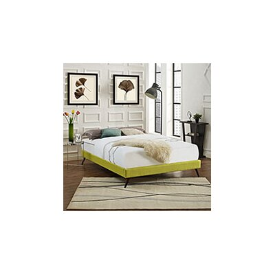 Helen Bed Frame Color: Wheatgrass, Size: King