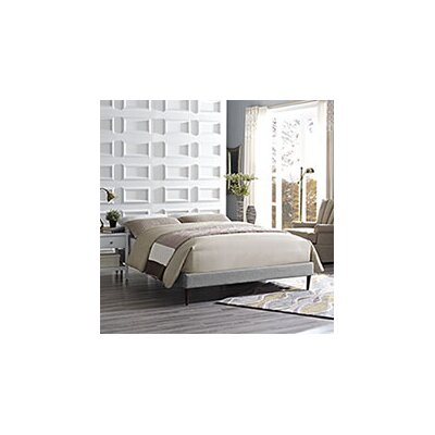 Sherry Bed Frame Size: Full, Color: Light Gray