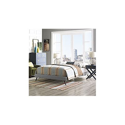 Helen Bed Frame Color: Light Gray, Size: Queen