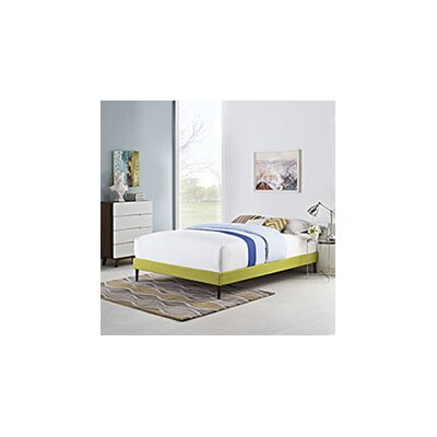 Sherry Bed Frame Color: Wheatgrass, Size: King