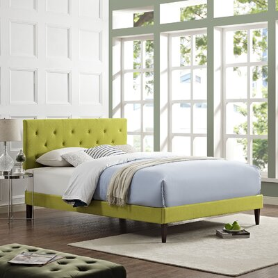 Terisa Upholstered Platform Bed Color: Wheatgrass, Size: King