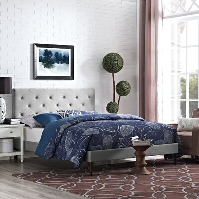 Terisa Upholstered Platform Bed Size: Full, Color: Light Gray