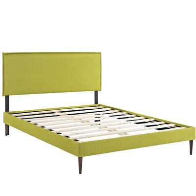 Camille Upholstered Platform Bed Size: Full, Color: Wheatgrass