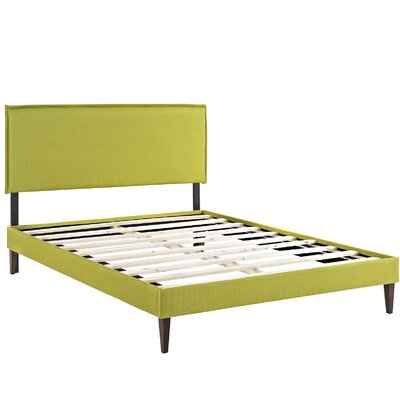 Camille Upholstered Platform Bed Color: Wheatgrass, Size: King