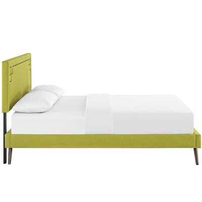 Josie Upholstered Platform Bed Color: Wheatgrass, Size: Queen