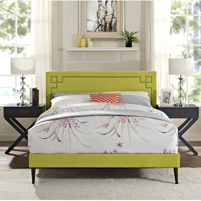 Josie Upholstered Platform Bed Color: Wheatgrass, Size: Full