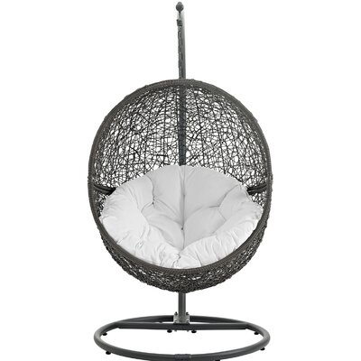 Hide Swing Chair with Stand Finish: Gray White