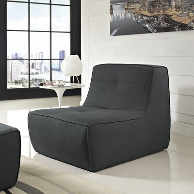 Align Upholstered Slipper Chair Upholstery: Charcoal