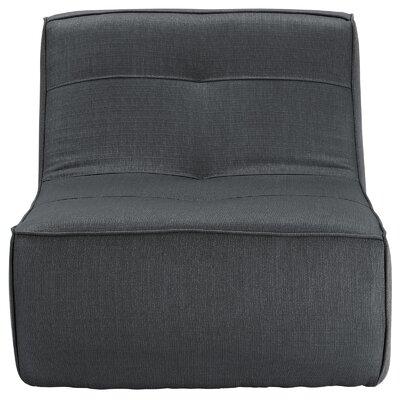 Align Upholstered Slipper Chair Upholstery: Charcoal