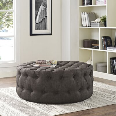 Amour Ottoman Upholstery: Polyester - Brown