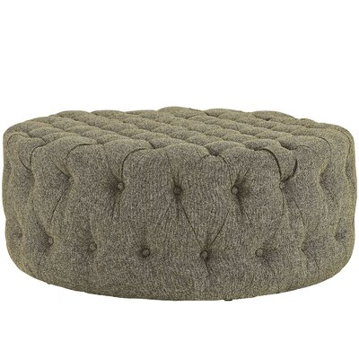 Amour Ottoman Upholstery: Polyester - Oatmeal