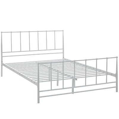 Estate Platform Bed Size: King, Color: White