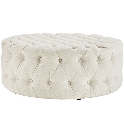 Amour Ottoman Upholstery: Polyester - Beige