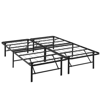 Horizon Steel Bed Frame Size: Queen, Color: Brown