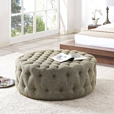 Amour Cocktail Ottoman Upholstery: Polyester - Oatmeal