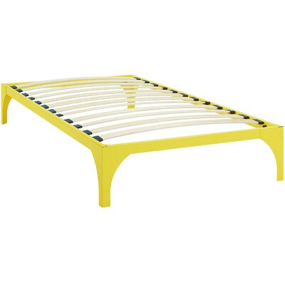 Ollie Bed Frame Size: Twin, Color: Yellow