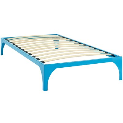 Ollie Bed Frame Size: Twin, Color: Light Blue