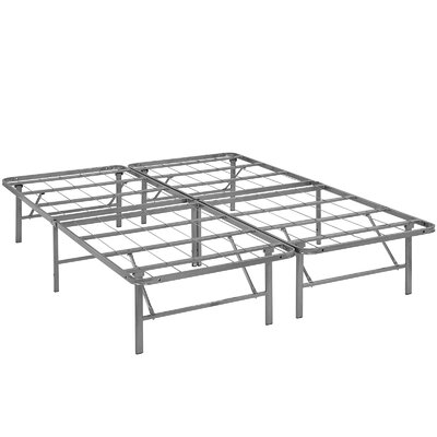 Horizon Steel Bed Frame Size: Full, Color: Silver