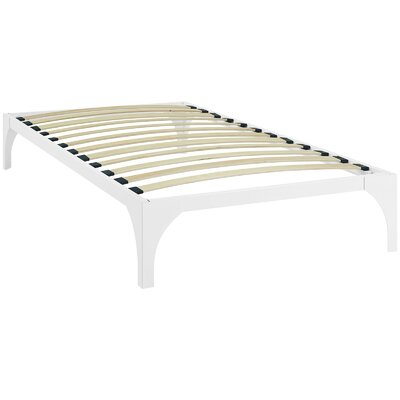 Ollie Bed Frame Color: White, Size: Twin