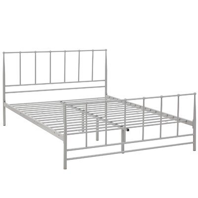 Estate Platform Bed Size: King, Color: Gray