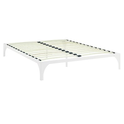 Ollie Bed Frame Size: Full, Color: White