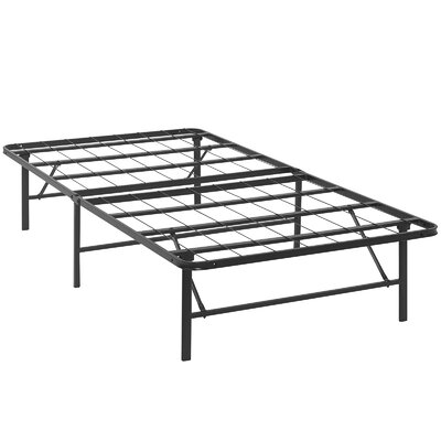 Horizon Steel Bed Frame Size: Twin, Color: Brown