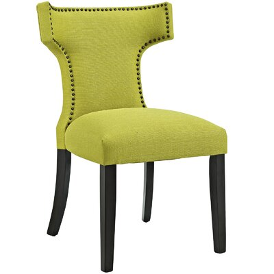 Curve Upholstered Dining Chair Color: Fabric Wheatgrass