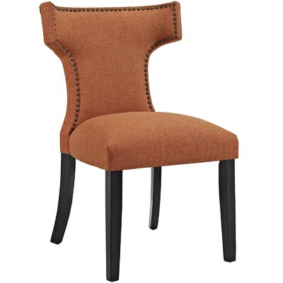 Curve Upholstered Dining Chair Color: Fabric Orange