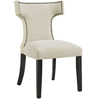 Curve Upholstered Dining Chair Color: Fabric Beige